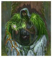 Cathbad the Wise - TCG illustration by BiPiCado