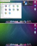 First Leopard Desktop