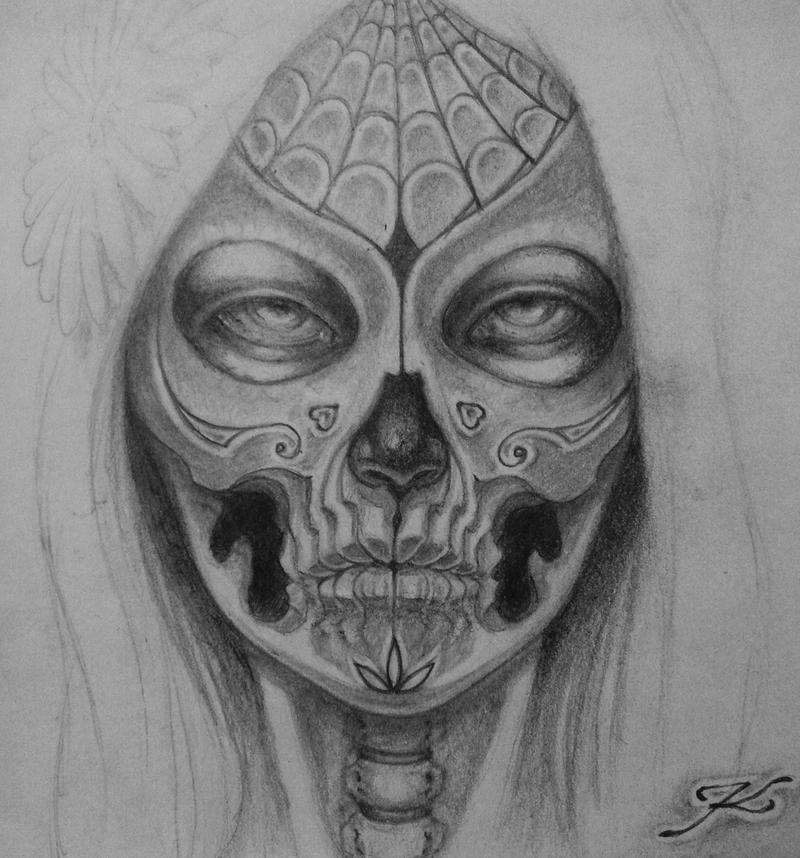 A5 muerte by keimoj on deviantart - Santa muerte signification ...