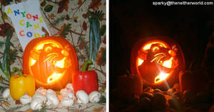 Ratatouille - Remy Pumpkin by NeitherSparky