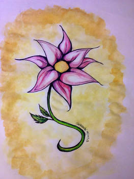 Water colored Flower