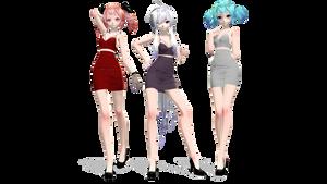 // Club Girls // Teto, Haku and Miku //