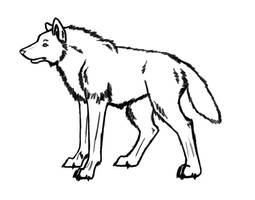 Free Wolf Lineart by LovestruckDemoness