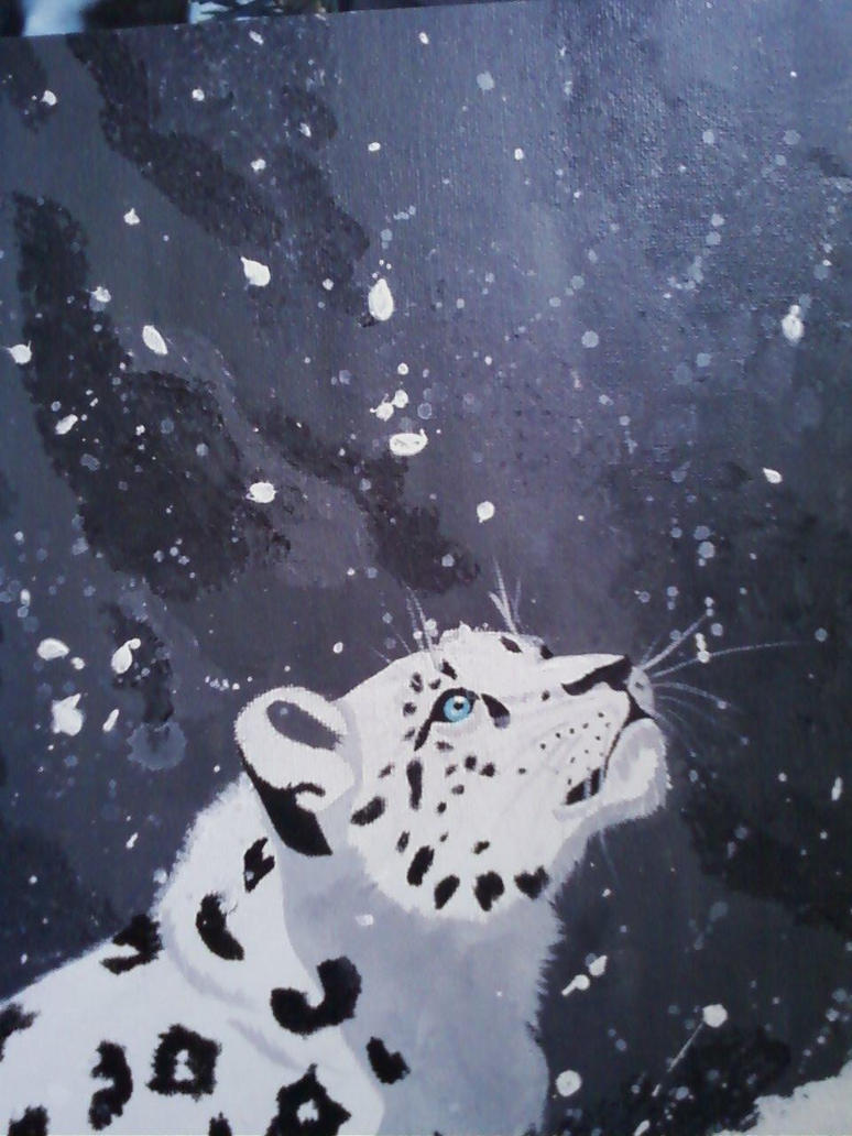 Snow Leopard Acrylic by LovestruckDemoness