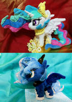 My Little Pony Royal Sister Plush For Sell! by astuyasiroh09