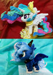 My Little Pony Royal Sister Plush For Sell!