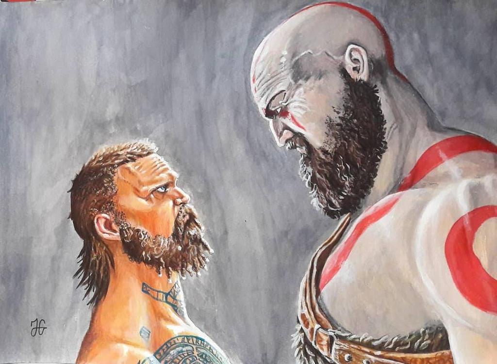 God Of War 4 Kratos Vs Baldur By Jimmygeldhof On Deviantart