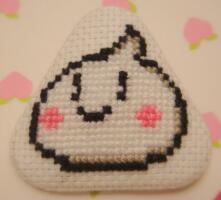 Bao Bao cross stitch pin by pixel8bit