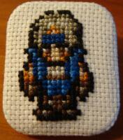 Locke cross stitch pin by pixel8bit