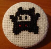 Ninji cross stitch pin by pixel8bit