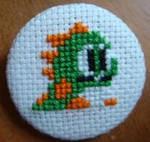 Puzzle Bobble cross stitch pin