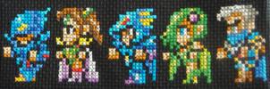 Final Fantasy IV Cross Stitch by pixel8bit
