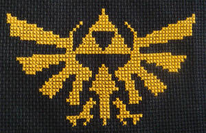 Hyrule Crest Cross Stitch by pixel8bit