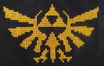 Hyrule Crest Cross Stitch