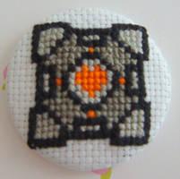 Companion Cube ver. 2 pin by pixel8bit
