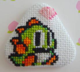 Puzzle Bobble Bub pin by pixel8bit