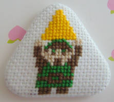 Link 3 cross stitch pin