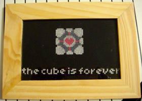 Portal Companion Cube X-Stitch by pixel8bit