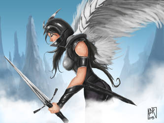 Winged Warrior by HauntedPen