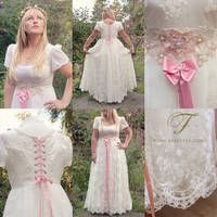 Fairy tale wedding dress commission by Fairytas