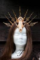 Clock skull Headpiece by Fairytas