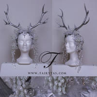 Silver winter Antlers by Fairytas