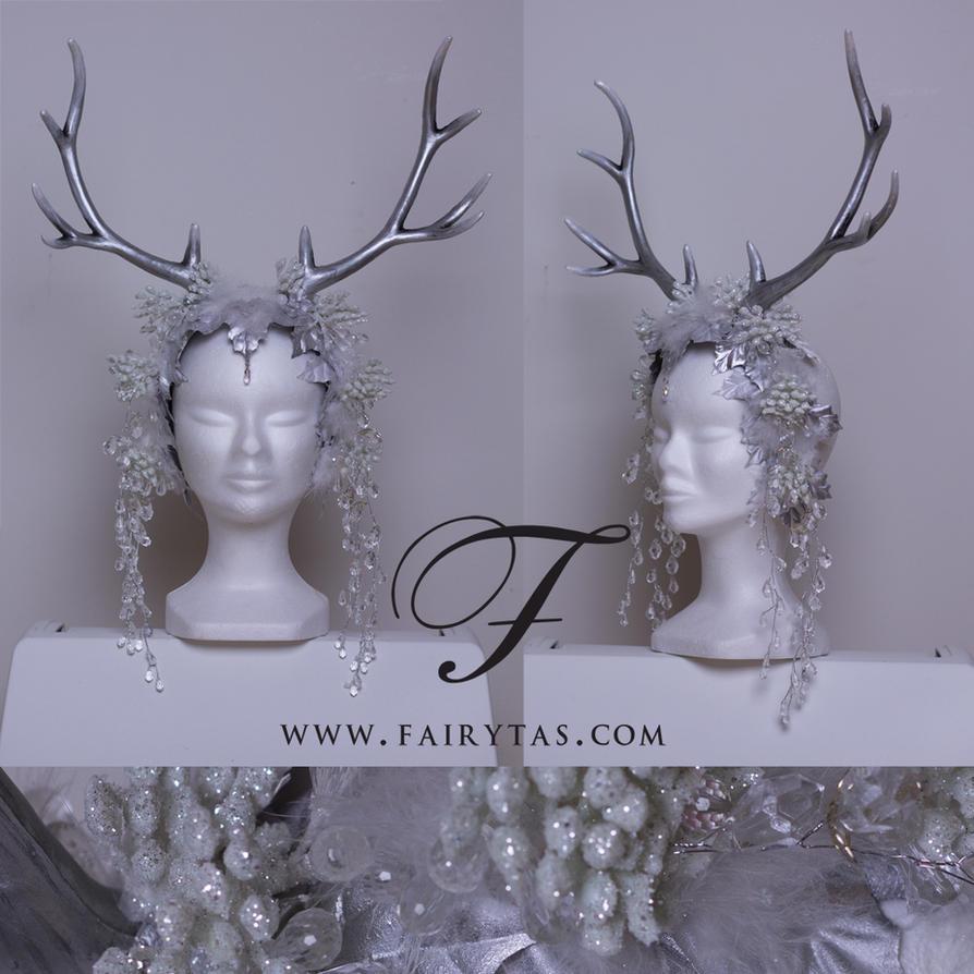 Silver winter Antlers by Jolien-Rosanne