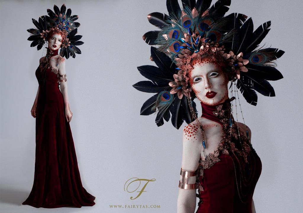 red dress by Jolien-Rosanne