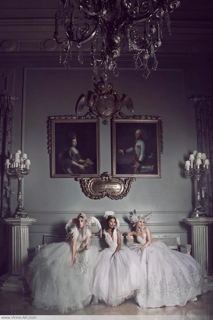 Swan sisters by Jolien-Rosanne