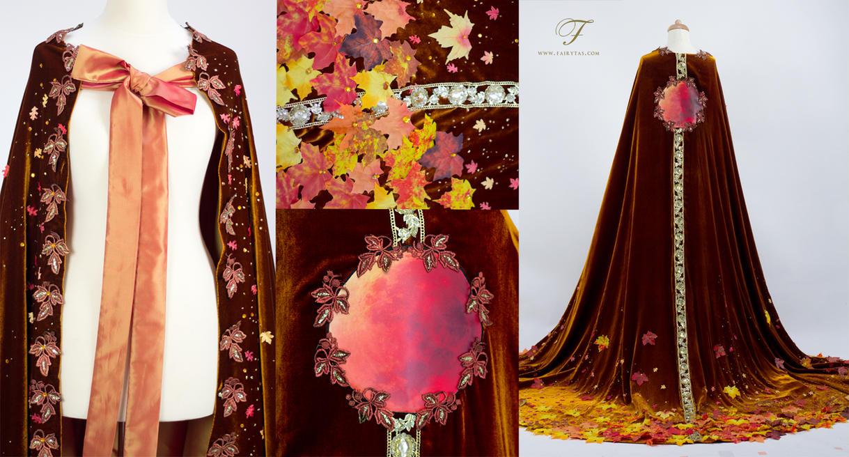 Autumn cape details by Jolien-Rosanne