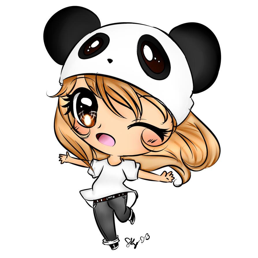 Chibi Panda By EndlessBlueSky