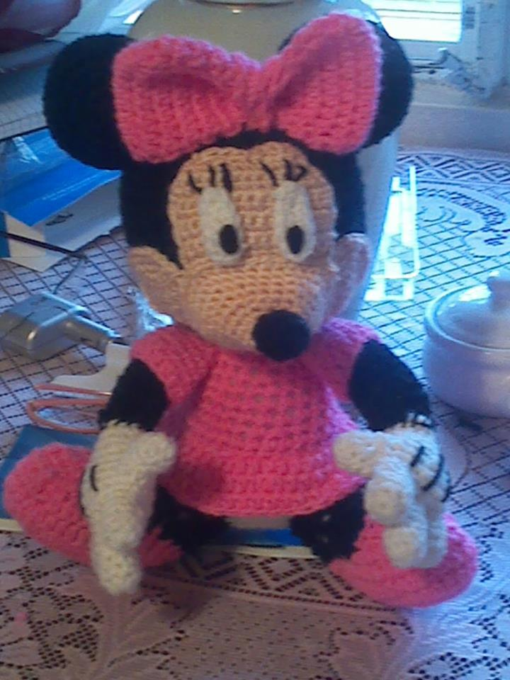 Crochet Minnie Mouse Doll : Minnie mouse crochet doll by EndlessBlueSky on deviantART