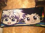 Crochet Gon and Killua Blanket