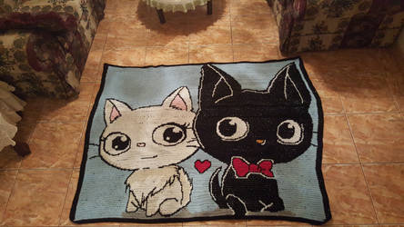 Crochet GiGi and Lilly Blanket by EndlessBlueSky