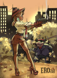 Detective Daisy and the bad guy