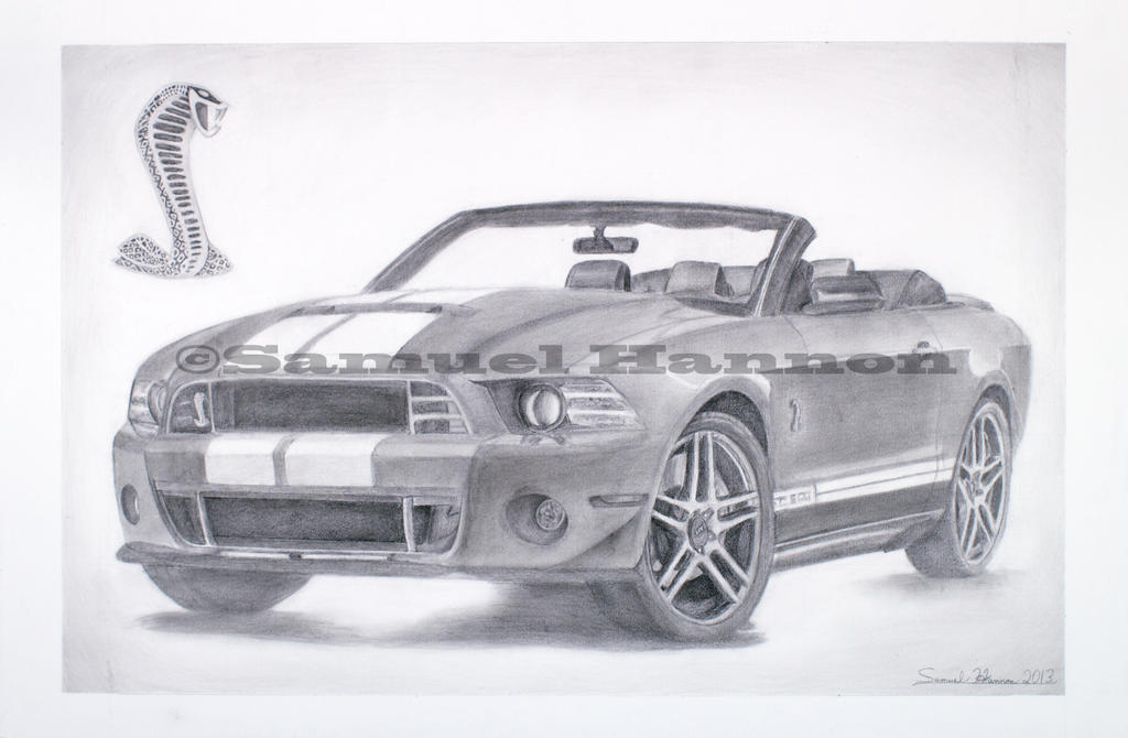 shelby mustang gt500 drawing by auto drawings on deviantart. Black Bedroom Furniture Sets. Home Design Ideas