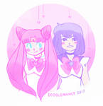 chibimoon and saturn