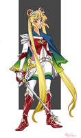 Sailor Knights - Super Sailor Moon by Alioxinfri