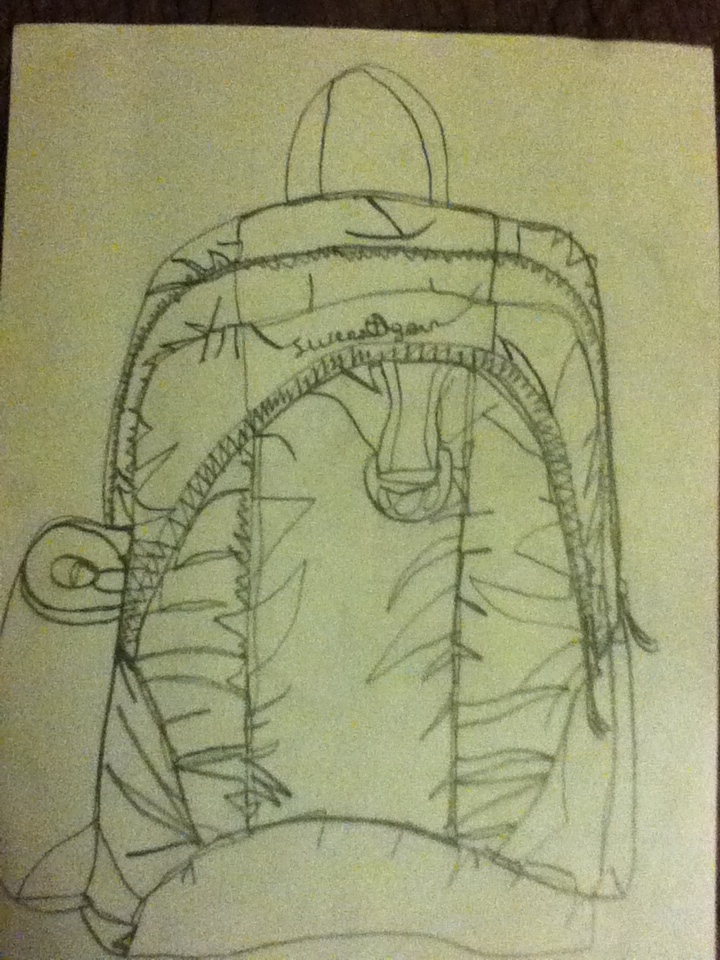 Contour Line Drawing Software : Contour line drawing bookbag by finnianlovesalois on