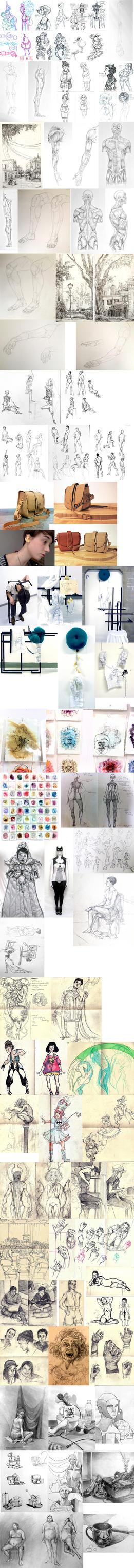 art school/ tumblr sketch dump by bhakri