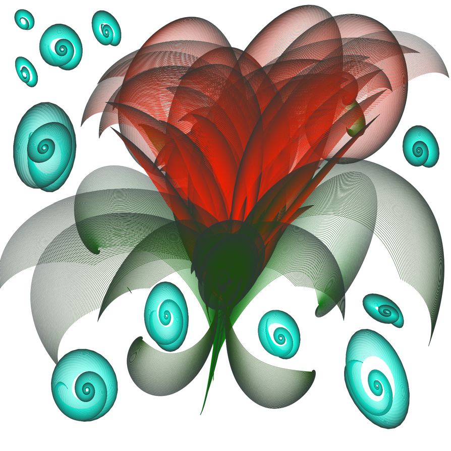 Red Mysterious Flower by MaliaMaria