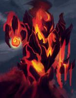 Fire elemental boss by Mehdi-kun