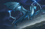 Storm dragon by shiroixue