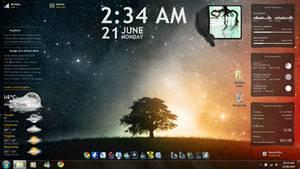 First Rainmeter desktop