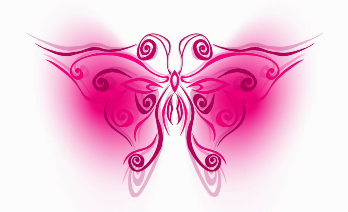 tribal butterfly pink by Auronff10 on DeviantArt
