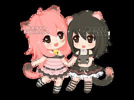:c: Mimi and Momo by bablih
