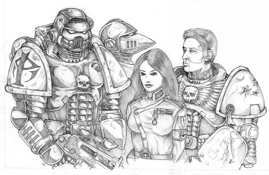 Warhammer 40k space marines by old-stone-road