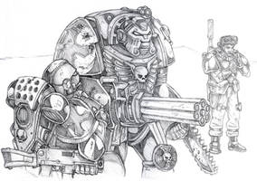 Space Marine Terminator 40k 2 by old-stone-road