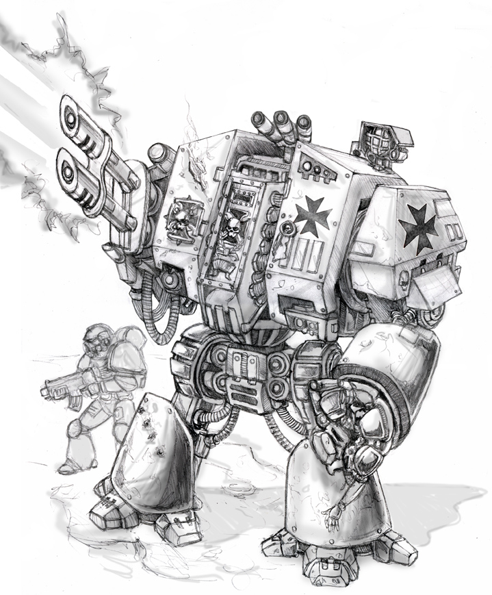 Warhammer 40k Dreadnought by old-stone-road
