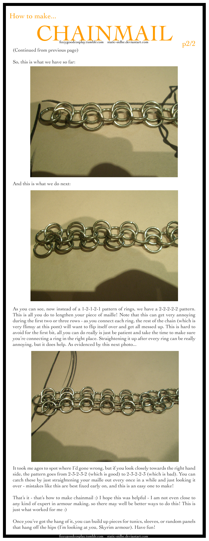 Chainmail tutorial 2 of 2 by static-sidhe